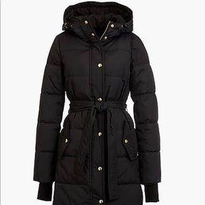 J.Crew Mercantile long puffer coat